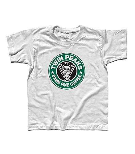 3stylershop T-Shirt Kind Twin Peaks Geïnspireerd Starbucks Koffie