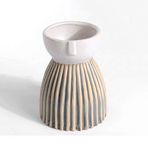 SHUTING2020 Home Décor Vase Large Ceramic Succulent Pot Planter Cactus Pot Flower Pots For Office Home Desk Decor, Retro Flower Pot,Creative Flower Pot Floral Vase