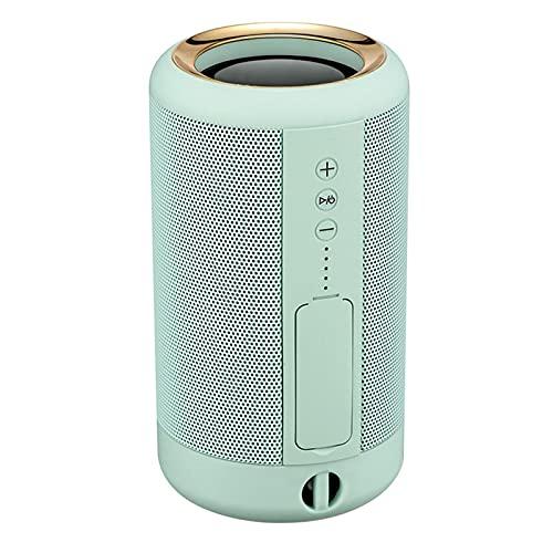 Altavoces Bluetooth 5.0, IPX5 Waterproof TWS Altavoz Portatil, Estereo, al Aire Libre, hogar, Fiesta, Viajes con HD Audio y Manos Libres, USB, Llamadas Manos Libres y TF,Green