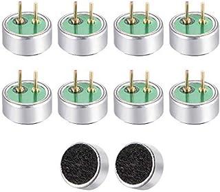 NA 6027P 34dB Pastilla de micrófono electret 6 mm x 2,7 mm condensador cilíndrico MIC con pines para PCB 10 piezas