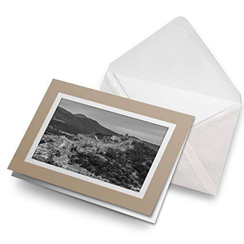 Impresionante tarjetas de felicitación de Biege (inserto) BW – Mallorca España Apdepera Town en blanco tarjeta de felicitación de cumpleaños para niños y niñas #38857