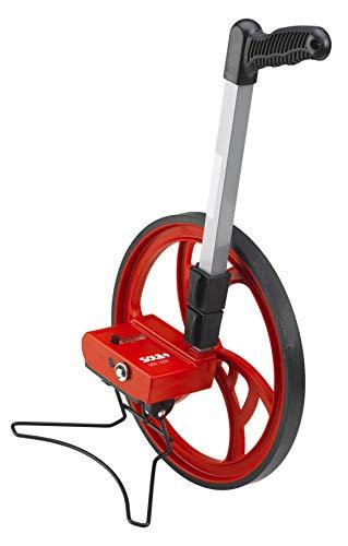 SOLA MW 1000 Messrad I Profi Meterzähler für exakte Vermessung bis 9.999,9 m I Laufrad mit einer Messtoleranz von ±3.00 mm I Rolltacho mit extra starkem Pistolengriff I Rollrad mit Seitenständer