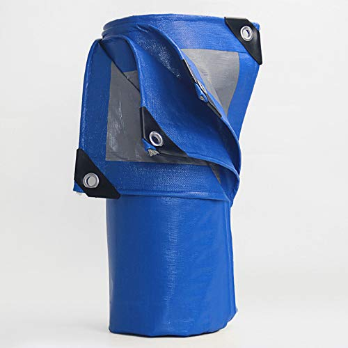 LJFPB Épaissir Bâche Couvertures De Sol Tente Isolation Imperméable Parasol, Bleu Et Argent, Multi Tailles, 200G/M² (Taille : 4x6m)