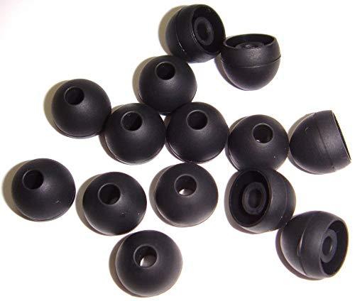Xcessor 7 Paar (Satz Mit 14 Stück) Gummi Silikon Ohrpolster Ohrstöpsel Für In-Ear Ohrhörer. Kompatibel Mit Den Meisten In-Ohr Markenkopfhörern. Größe: M (Mittel). Schwarz