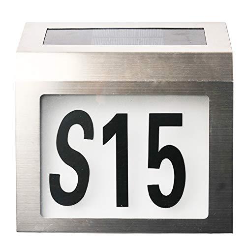 Las señales de números de la casa con energía solar, la placa de la puerta moderna que proporciona una iluminación LED para las calles del patio familiar 2 sets 0-9