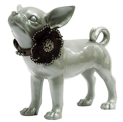 Trilly Tutti Brilli Lakband met Swarovski ketting en bloem van leer en kristallen, brons, 25-1 product