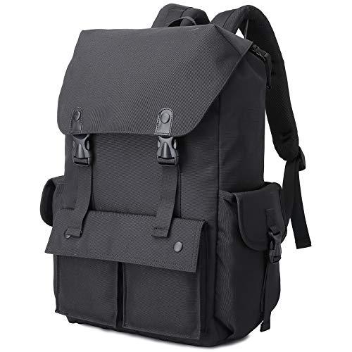 Myhozee Rucksack Herren groß Damen Laptop Rucksack 15.6 Zoll Wasserabweisend Rucksäcke Casual Daypack, Schulrucksäcke Tagesrucksack für Reisen Arbeit Täglicher Gebrauch-Schwarz