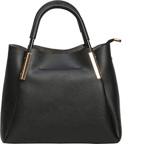 Don Cavalli Women's PU Leather Handbag (DC106, Black)