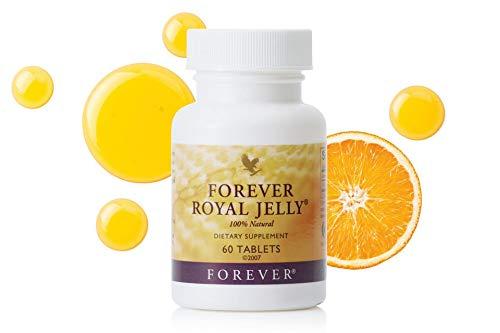 Forever - ROYAL JELLY | Hochwertiger & Reines Gelée Royal | Elixier der Bienenkönigin | Mit natürlichem Orangenaroma | 60 Presslinge | 2x Täglich