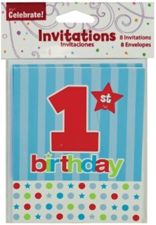 JT Party Supplies jt-ps-pa279 1. Geburtstag Deko Einladungen (24 Stück) B01HCPUL4U Bunt,   Bunt,