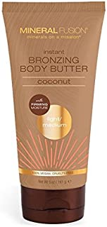 Mineral Fusion Instant Bronzing Body Butter Light Medium Coconut, 5 Oz