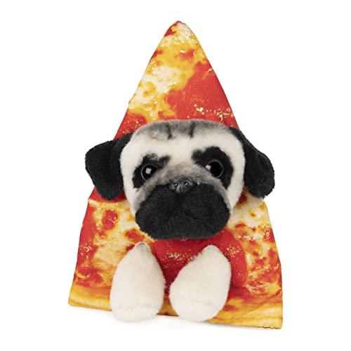 GUND 6058879 Pug Cheese Pizza Slice Doug para edades 1 y ms, rojo/naranja, 5, 5 pulgadas
