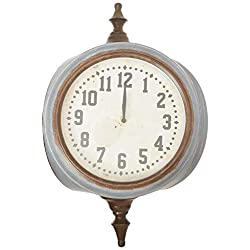 Creative Co-op DA8471 Metal Double Sided 28-General Décor - Wall Clocks, Grey
