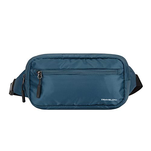 Travelon World Travel Essentials Convertible Sling/Waist Pack, Peacock Teal, One Size