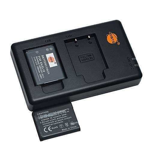 EN-EL19 (2 unidades) Batería recargable y cargador dual compatible con Sony NP-BJ1, DSC-RX0 y Nikon Coolpix S32, S100, S4100, S4200, S4300, S5200, S5300, S6500, S7000, etc.