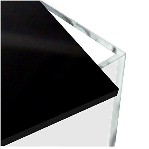 HOKU Holzhäuser Kunststofftechnik Plexiglas-würfel mit Deckel oder Boden in schwarz Grösse : 15cm x 15cm x 15cm Box, Acryl/Plexiglas, 5 transparente Seiten, klar