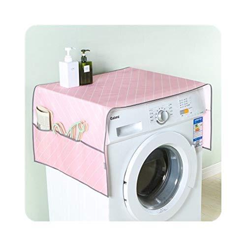 Guomao Trommel-Waschmaschinenüberzug, Stoff, Aufbewahrung, Staubschutz, 55 x 130 cm, Rosa