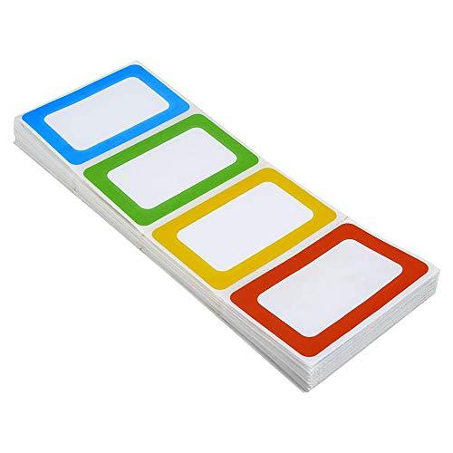 Adesive Nome Etichette Adesive Personalizzate 200 Adesivi - 8,9 x 5,7 cm - Etichette Nome Multifunzione per Scuola o Ufficio Casa, Vestiti Bambini, Barattoli, Bottiglie (Fanfold)