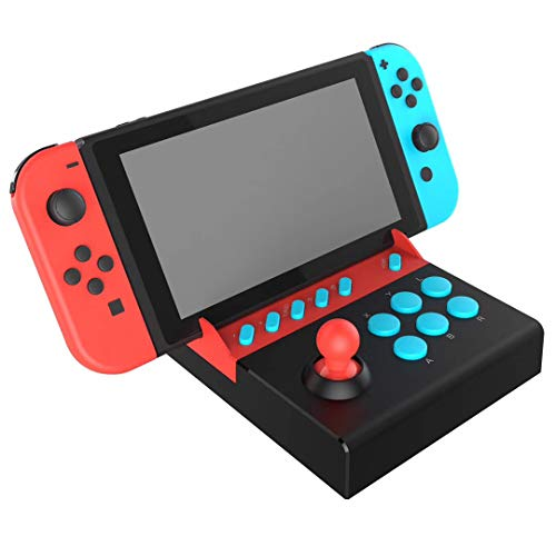 eLUUGIE External Arcade Game Joystick Fight Stick Controller Joystick Game Rocker for Nintendo Switch Gladiator Game Controller Joystick with Turbo Function for PG-9136 Switch