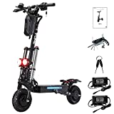 Yume Y10 Adult Electric Scooter Double Suspensions Dual Motor 23.4AH Battery 52V 2400W up to 40 MPH 40 Miles Fast Sports Scooter 10' Off Road Tires 330lbs Max Loading Foldable Escooter