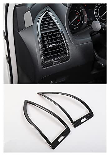 WLDZGGD Marco de cubierta de salida de aire acondicionado interior AC para Nissan para Patrol Y62 2017 Auto Interior (color: fibra de carbono)
