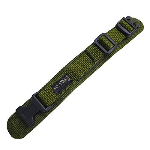 ミルフォース タクティカル ウォッチバンド オリーブ OD 18mm-20mm ナイロン ベルクロ 樹脂バックル式