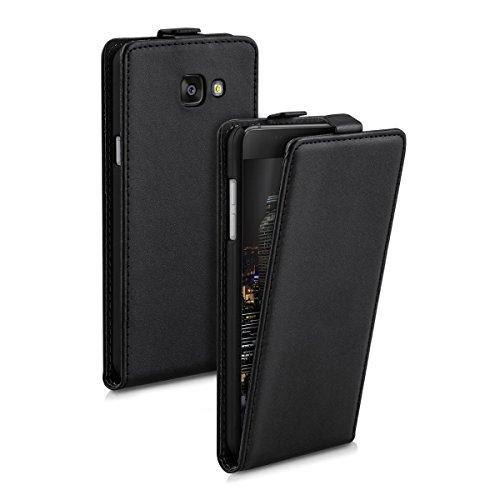 kwmobile Schutzhülle kompatibel mit Samsung Galaxy A5 (2016) - Hülle Handy - Flip Hülle Handyhülle Schwarz
