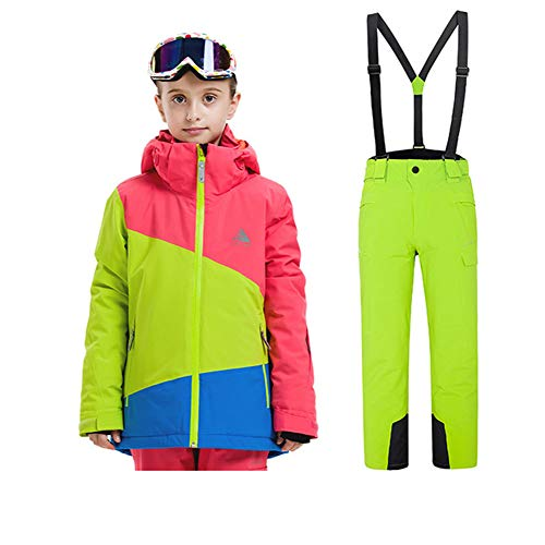 XYYHTL meisjes skipak winter winddicht sneeuwpak skipak ski-jack + skibroek rieten pak set winddicht waterdicht winter skikleding