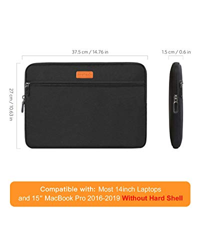 Inateck 14 Zoll Laptoptasche Hülle Wasserdicht Notebook Sleeve Case Schutzhülle Kompatibel mit 14 Zoll Laptops/15 Zoll MacBook Pro2016-2019/Surface Book2