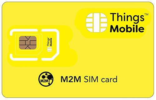 SIM Card M2M (MACHINE 2 MACHINE) - GSM 2G 3G 4G - ideale per applicazioni di telemetria, sicurezza, logistica, telemedicina, vending machine, gestione di flotte con € 10 di credito incluso.
