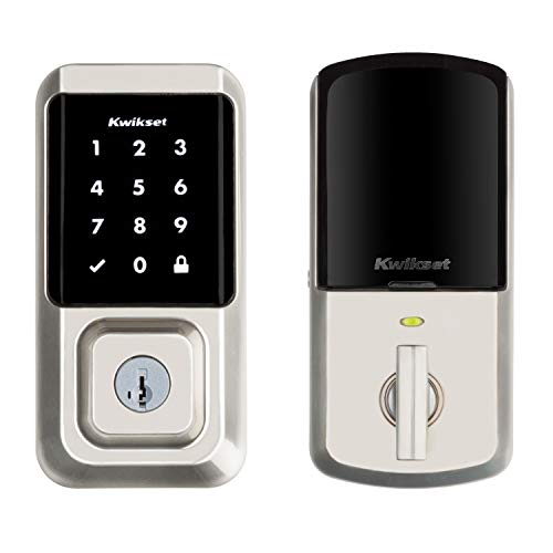 Kwikset 99390-001 Halo Wi-Fi Smart Lock Keyless Entry Electronic Touchscreen Deadbolt Featuring SmartKey Security, Satin Nickel