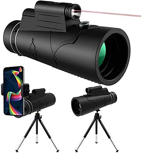 TWTW 2021year 12X50 HD télescope monoculaire Starscope+ Support de Smartphone et trépied, pour téléphone Portable Observation des Oiseaux Camping Chasse randonnée