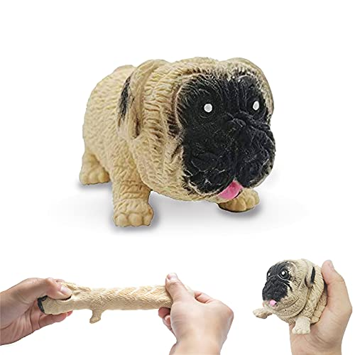 JGPIN Squishy Dog Toy Gifts - Stress Squishies Pug Sensory Toys Slow Rising - Fidget Anxiety Relief Pugs for Adult, Child, ADHD or Puppies Fans - Sturdy and Durable Fidget Toy with Good Sealing