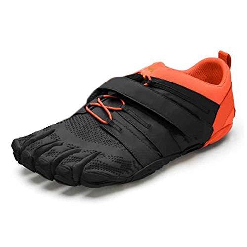 Vibram V-Train 2.0, Zapatillas Hombre, Black/Orange, 39 EU