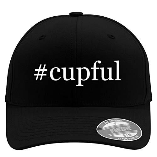 #Cupful - Flexfit Adult Men's Baseball Cap Hat, Black, Small/Medium