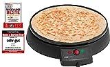 Clatronic CM 3372 Máquina de hacer crepes, tortitas, tortillas, plato 29 cm antiadherente,...