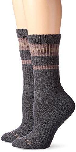 Carhartt Women's Thermal Heavy Duty Crew 2-Pair Socks, gray, Shoe Size: 5.5-11.5