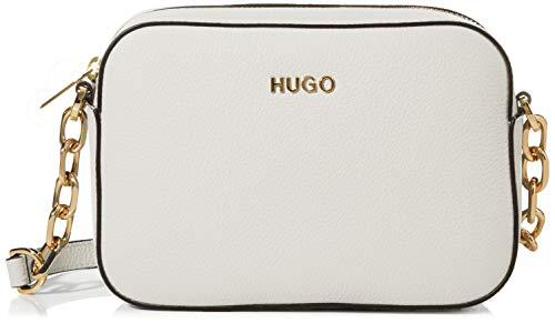 HUGO Damen Victoria Crossbody-p Umhängetasche, Weiß (Open White), 6x13.5x19.5 cm