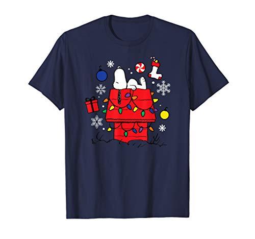 Peanuts Weihnachten Snoopy Träumen T-Shirt
