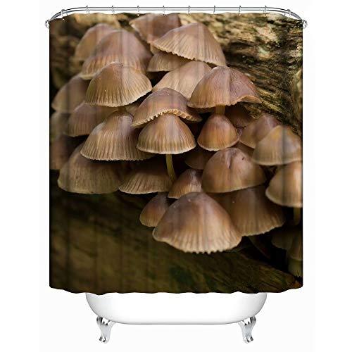 SHENMAHU SHOP Shower Curtain Decor,Wild Forest Mushrooms Pattern Durable Fabric Bath Curtain Waterproof Polyester Bathroom Curtain Shower Curtains 60