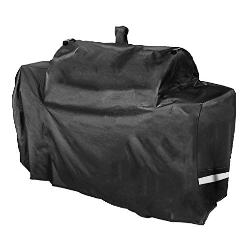"""Utheer Grill Cover Waterproof for Oklahoma Joe's Longhorn Outdoor Grill Smoker Combo, Heavy Duty Fabric Barbeque BBQ UV Protection 600D Charcoal Smoker Grill Covers, 75"""" W x31 D x41.5 H"""