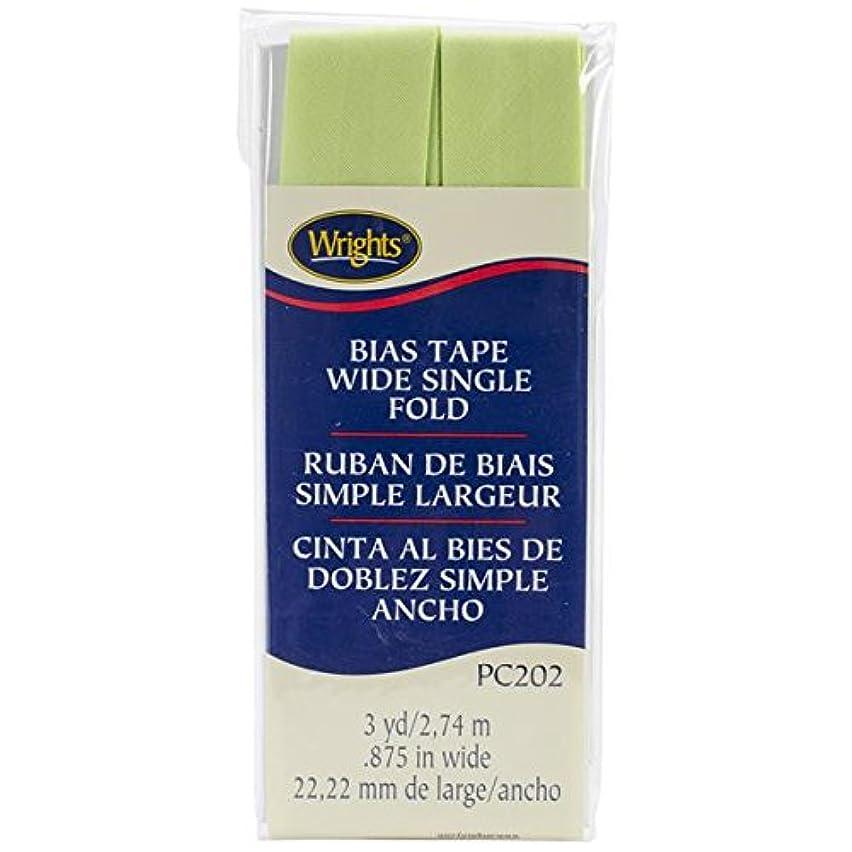 Wrights Single Fold Bias Tape, 7/8 by 3-Yard, Lime Green