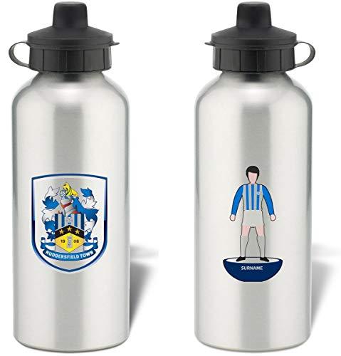 Huddersfield Town AFC Personalised Player Figure Aluminium Sports Water Bottle - Silver Bottle