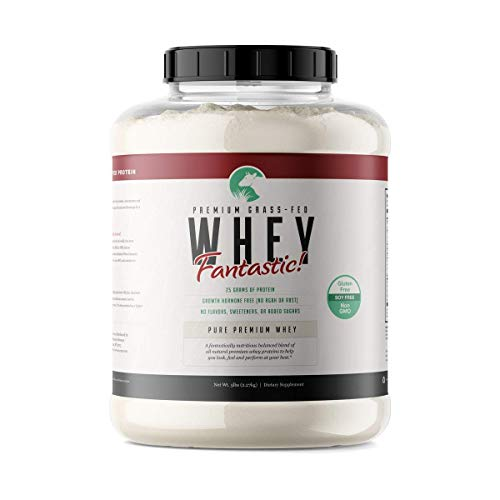 Whey Fantastic 5LB 100% Pure Grass Fed Whey Protein - Unflavored Bulk - Optimum Blend of Undenatured Whey Isolate, Concentrate & Hydrolysate - Non-GMO, Soy & Gluten Free - 75 Servings