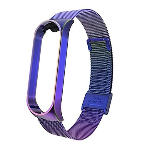 WWXFCA Banda de Reloj de Acero Inoxidable sin torves metálicas para Xiaomi MI Banda 5 6 Pulsera de Correa para mi Banda MI 6 5 4 3 Strap Wrist Watch Band