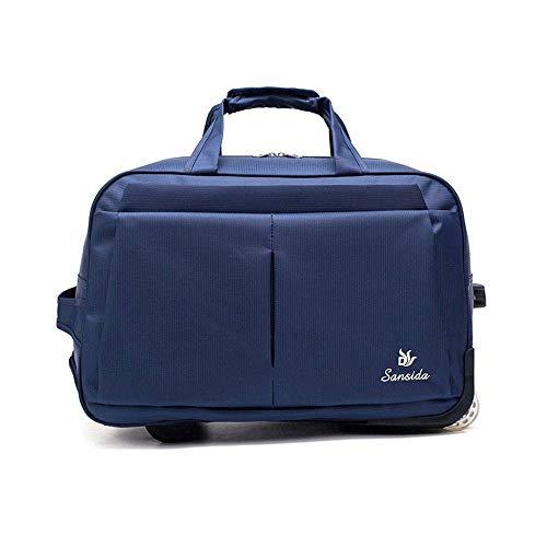 WLP-WF Einrad-Trolley-Tasche Mit Großer Kapazität Wasserdichter Diebstahlschutz Geeignet Für Business Outdoor College, Blau, 24 Zoll,Blau,24 Zoll