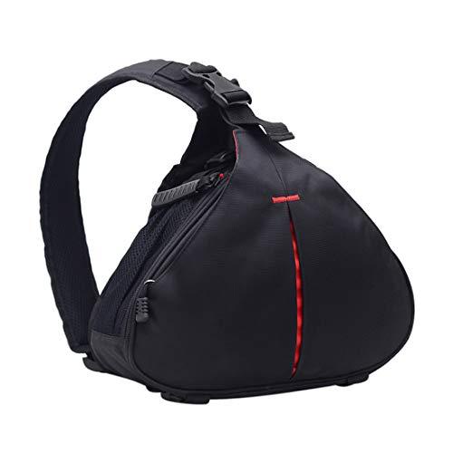 Anteck DSLR custodia borsa zaino tracolla zaino per accessori per Canon Nikon Sony con copertura antipioggia nero versione migliorata