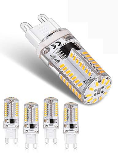 Lampadina LED G9 da 3 W, 200 lumen, 3000 K, luce bianca calda, senza sfarfallio, non dimmerabile, angolo di 360 gradi, sostituisce lampadine alogene G9 40 W, confezione da 5