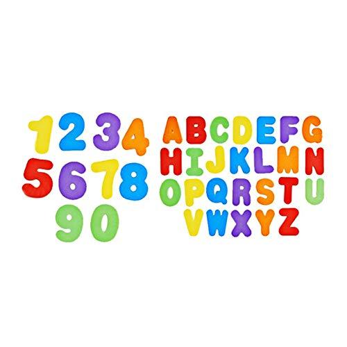 Fesjoy Badspeelgoed Organizer Badletters en cijfers Babybadjes Speelgoed Kleurrijk educatief badspeelgoed met premium badspeelgoedopslag Niet-giftig drijvend speelgoed 36 stuks ABC