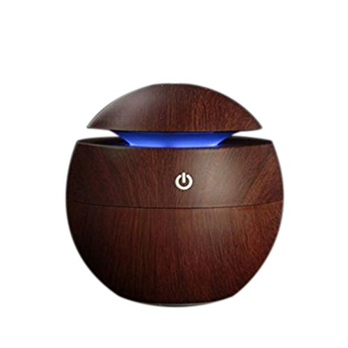 MistWorld USB freddo ad ultrasuoni olio essenziale aroma diffusore 130ml capacità legno grano scuro colore